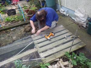 Drilling Holes in Palletgate - that'll teach it!