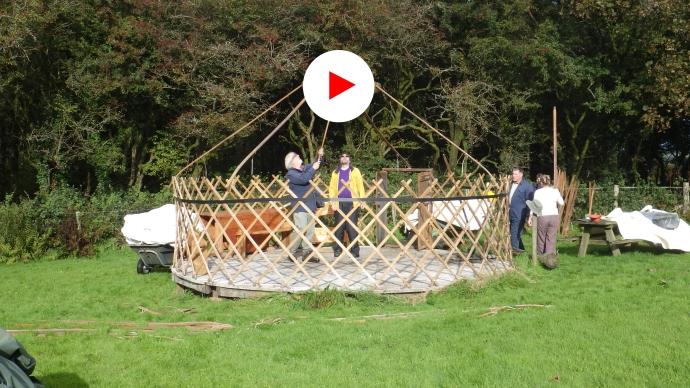 Play Yurt Down time lapse film