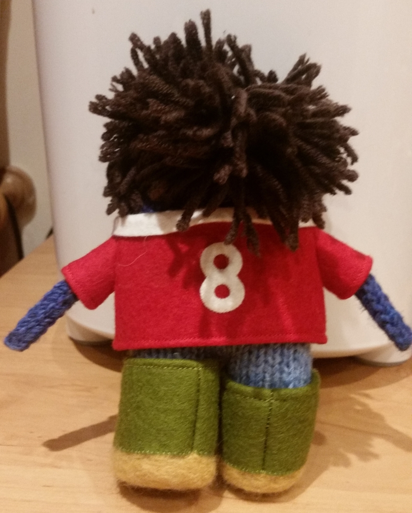 JonBeastie in a #8 Welsh Rugby Shirt