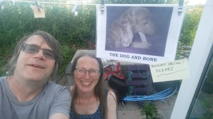 Here we are outside the Dog and Bone